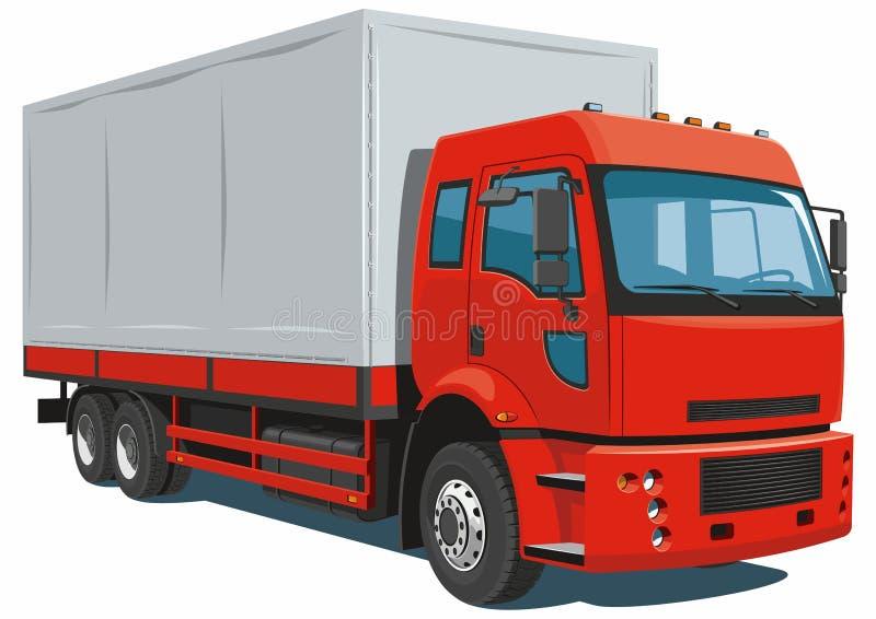 Κόκκινο φορτηγό παράδοσης διανυσματική απεικόνιση