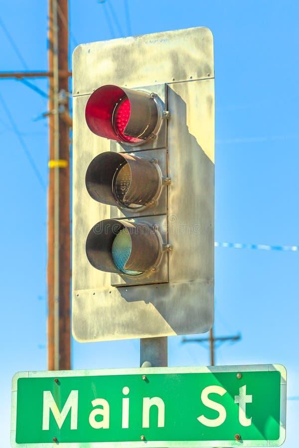 Κόκκινο φως Barstow στοκ φωτογραφίες