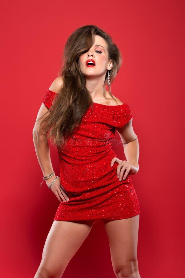 Κόκκινο φόρεμα στοκ εικόνες