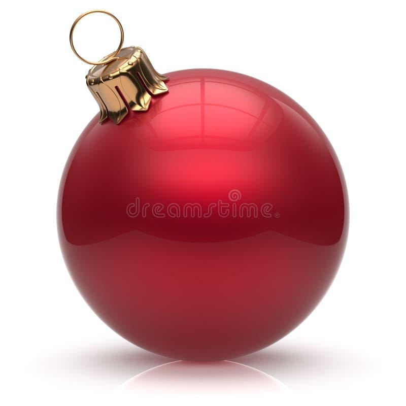 Κόκκινο χειμερινών διακοσμήσεων μπιχλιμπιδιών σφαιρών Χριστουγέννων Παραμονής Πρωτοχρονιάς ελεύθερη απεικόνιση δικαιώματος
