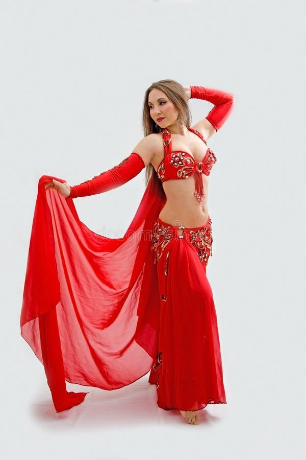 κόκκινο χορευτών κοιλιώ&nu στοκ φωτογραφία με δικαίωμα ελεύθερης χρήσης