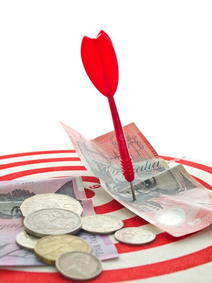 κόκκινο χρημάτων βελών στοκ εικόνα