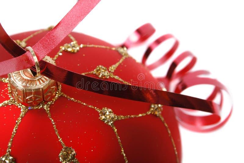 κόκκινο Χριστουγέννων σφαιρών στοκ εικόνες με δικαίωμα ελεύθερης χρήσης