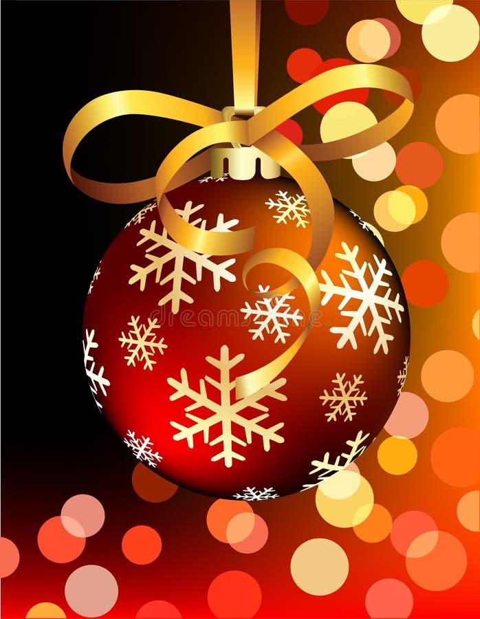 κόκκινο Χριστουγέννων σφαιρών διανυσματική απεικόνιση