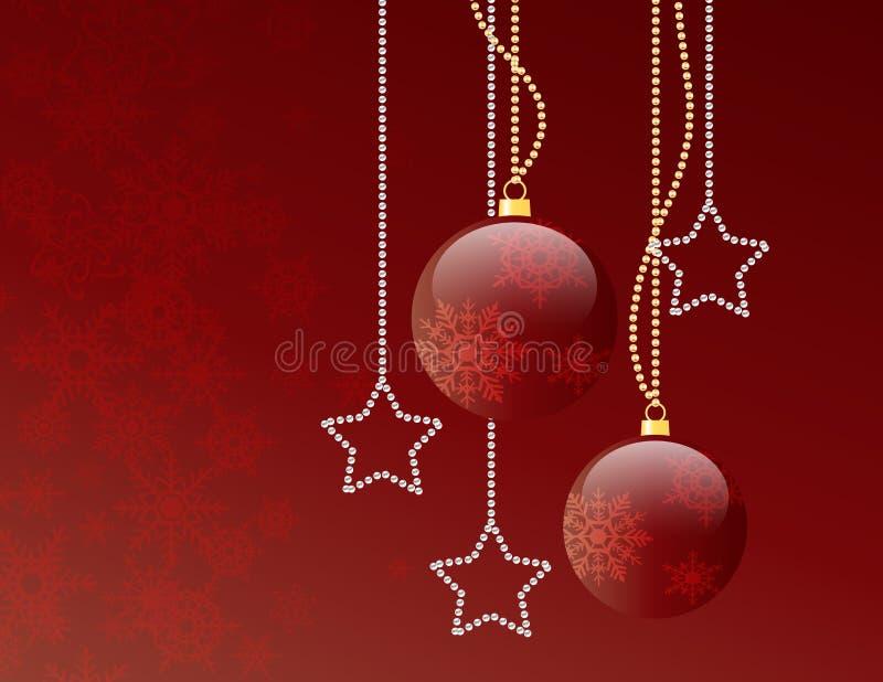 κόκκινο Χριστουγέννων σφ&a ελεύθερη απεικόνιση δικαιώματος