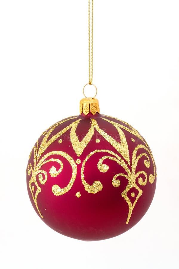 κόκκινο Χριστουγέννων σφ&a στοκ φωτογραφίες με δικαίωμα ελεύθερης χρήσης