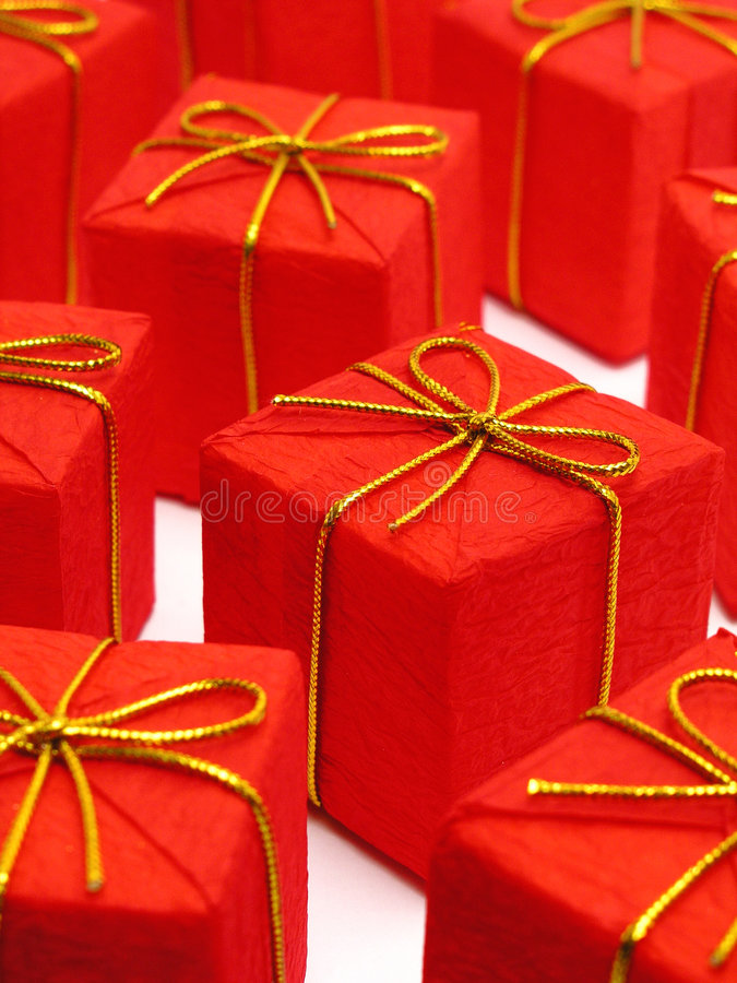 κόκκινο χριστουγεννιάτι Στοκ φωτογραφία με δικαίωμα ελεύθερης χρήσης