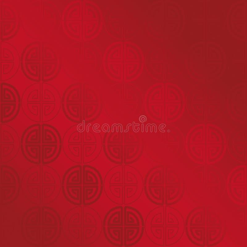 Κόκκινο χρυσό άνευ ραφής γεωμετρικό κινεζικό σχέδιο απεικόνιση αποθεμάτων