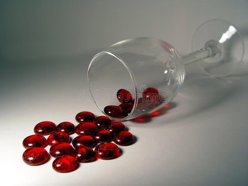 κόκκινο χύσιμο στοκ εικόνες με δικαίωμα ελεύθερης χρήσης