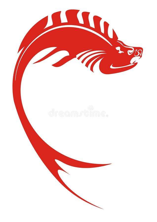 κόκκινο ψαριών διανυσματική απεικόνιση