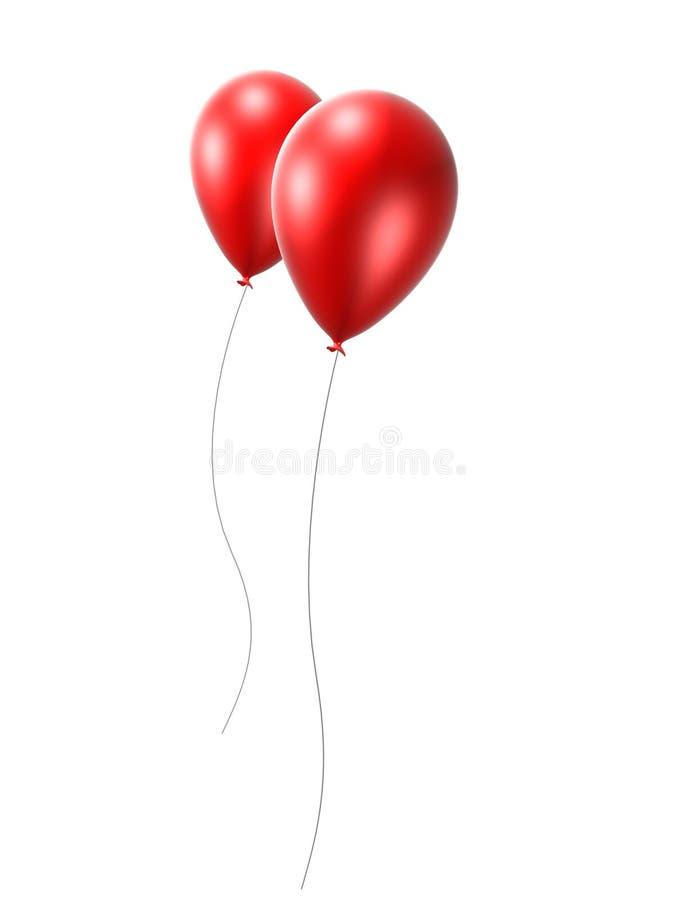κόκκινο 2 μπαλονιών ελεύθερη απεικόνιση δικαιώματος