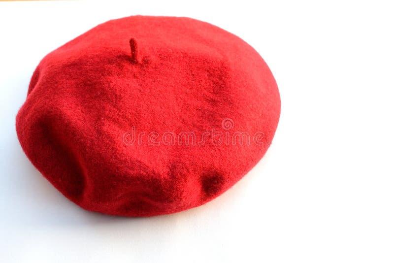 κόκκινο beret στοκ εικόνες