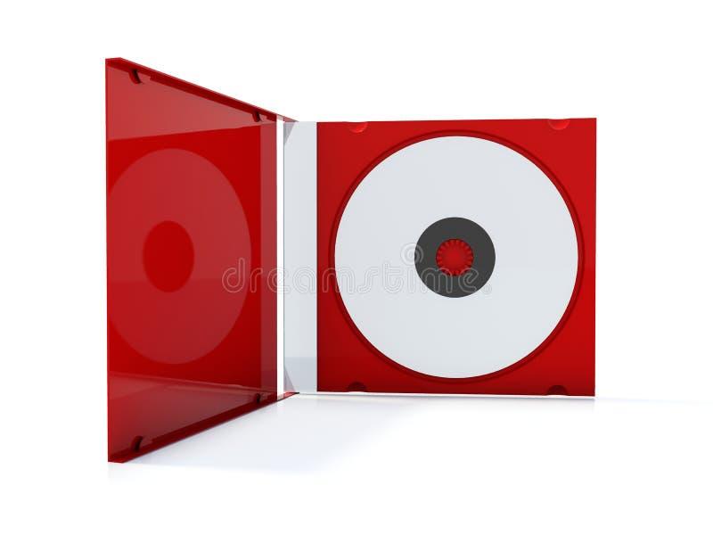 κόκκινο Cd κιβωτίων απεικόνιση αποθεμάτων