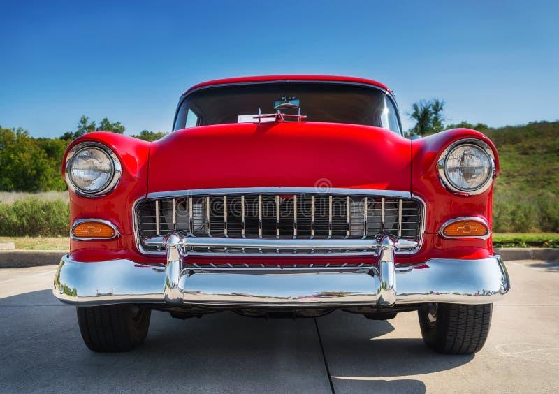 Κόκκινο 1955 Chevrolet 210 στοκ φωτογραφία με δικαίωμα ελεύθερης χρήσης