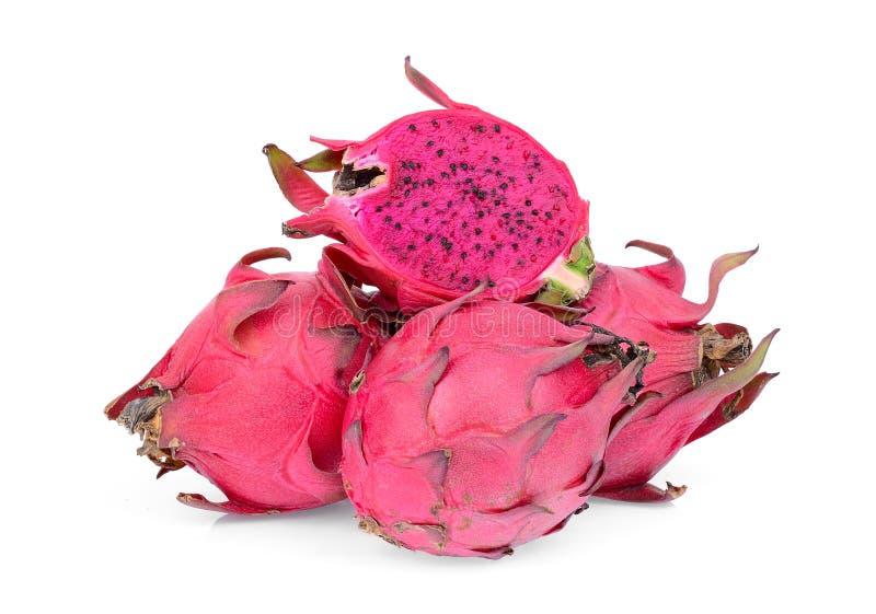 Κόκκινο dragonfruit στο λευκό στοκ εικόνες