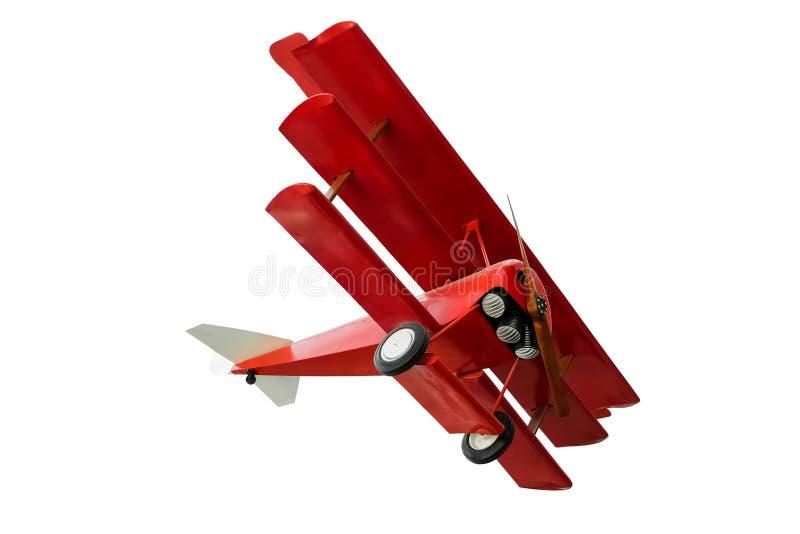 Κόκκινο Fokker triplane στοκ εικόνα