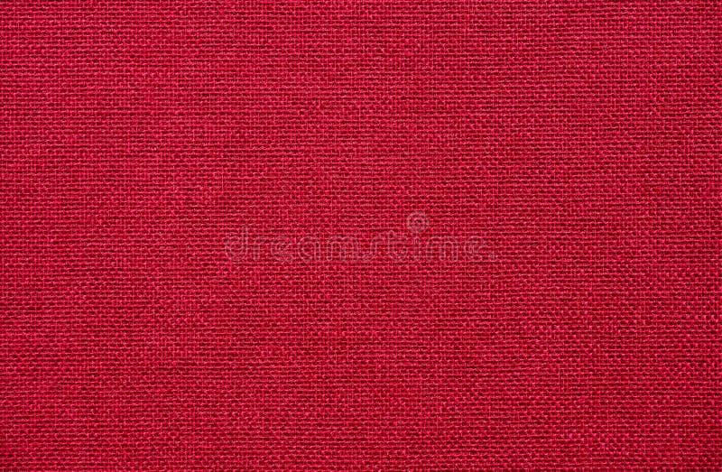 Κόκκινο hessian ύφασμα, μακρο υπόβαθρο στοκ εικόνα