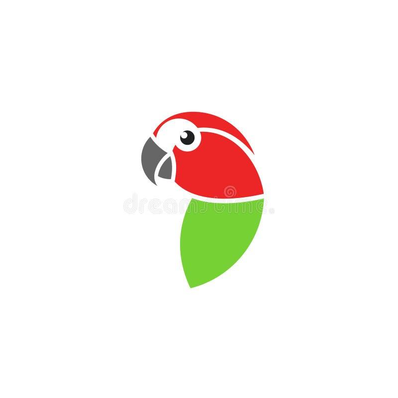 Κόκκινο macaw Τροπικό πουλί Απομονωμένος παπαγάλος στο άσπρο υπόβαθρο απεικόνιση αποθεμάτων