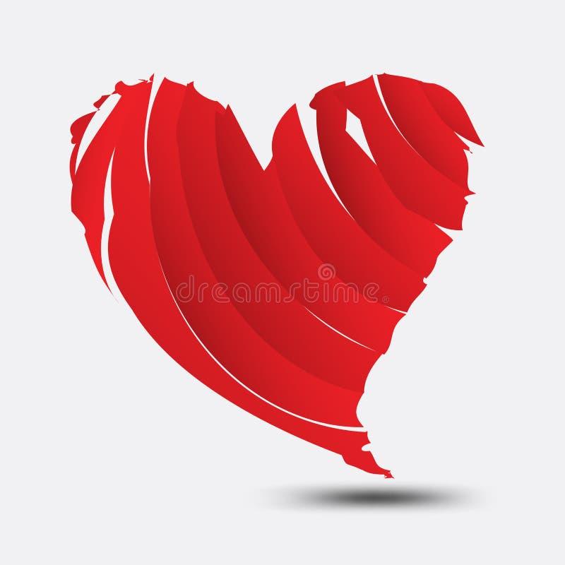 Κόκκινο polygonal διάνυσμα καρδιών, εικονίδιο καρδιών, λογότυπο, επίπεδο εικονίδιο για τα apps και ιστοχώρος, σημάδι αγάπης, σύμβ απεικόνιση αποθεμάτων