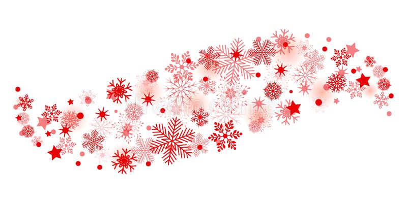 Κόκκινο snowflake κυμάτων υπόβαθρο - διάνυσμα διανυσματική απεικόνιση