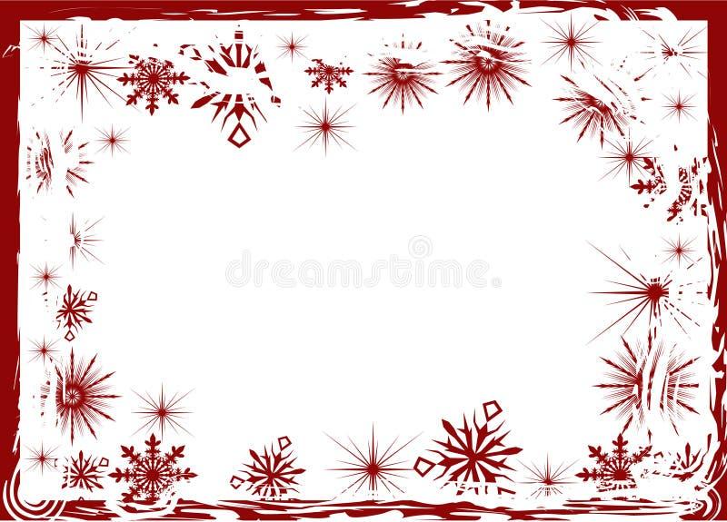 κόκκινο snowflake πλαισίων ελεύθερη απεικόνιση δικαιώματος