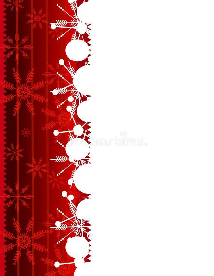 κόκκινο snowflake Χριστουγέννων συνόρων