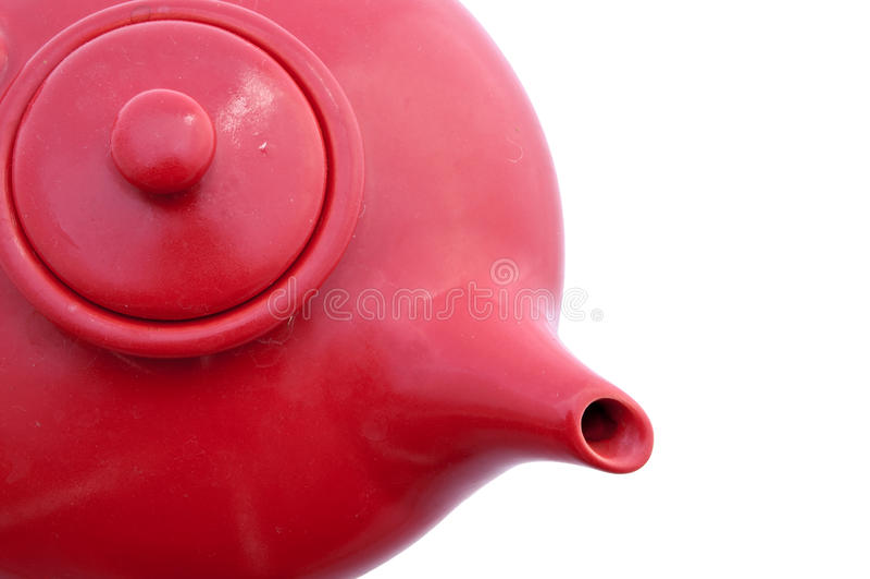 κόκκινο teapot στοκ εικόνες