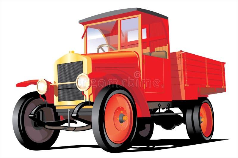 κόκκινο truck φορτίου διανυσματική απεικόνιση