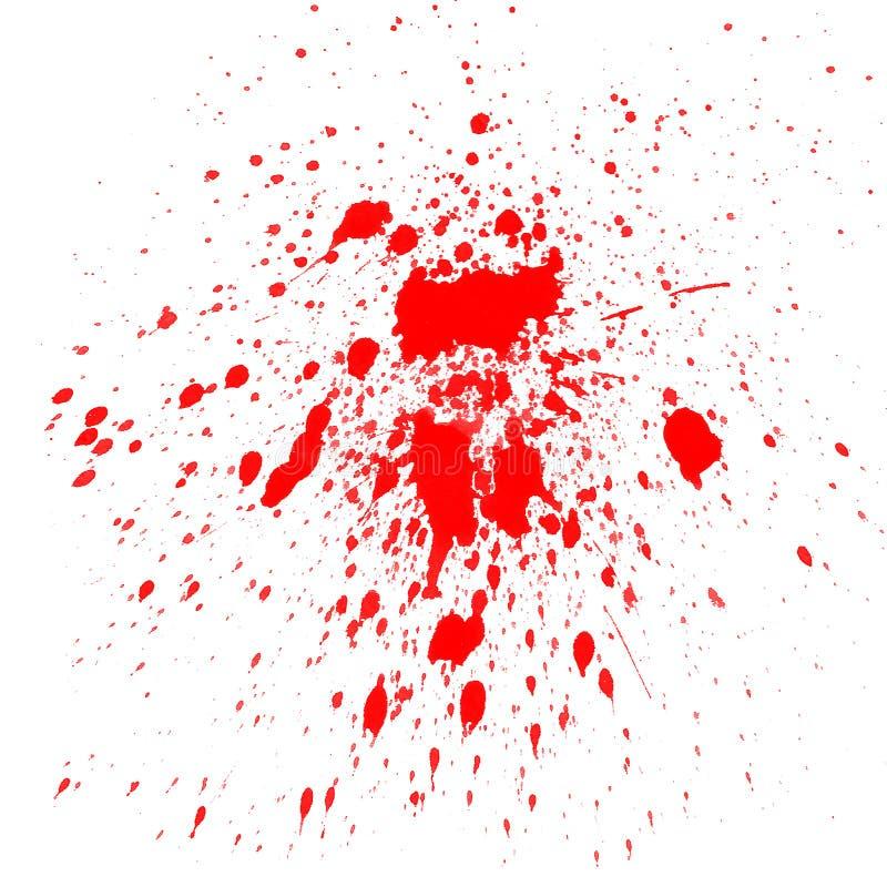 κόκκινο watercolor παφλασμών ελεύθερη απεικόνιση δικαιώματος