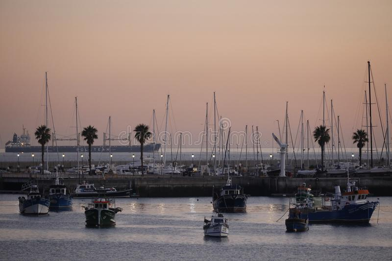 Κόλπος Πορτογαλία του Κασκάις στοκ εικόνες