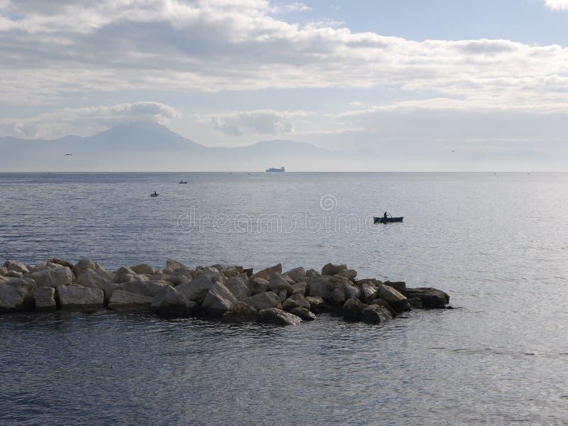 Κόλπος της άποψης της Νάπολης στοκ φωτογραφίες με δικαίωμα ελεύθερης χρήσης