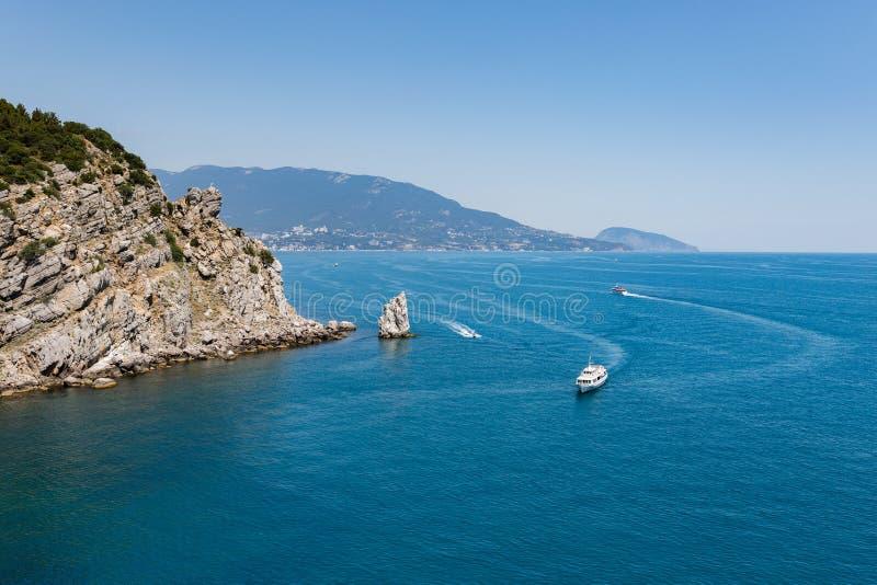 Κόλπος τουριστών θάλασσας στοκ εικόνα με δικαίωμα ελεύθερης χρήσης