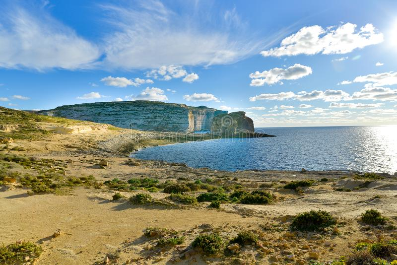 Κόλπος Dwejra στο νησί gozo της Μάλτας στοκ φωτογραφία με δικαίωμα ελεύθερης χρήσης