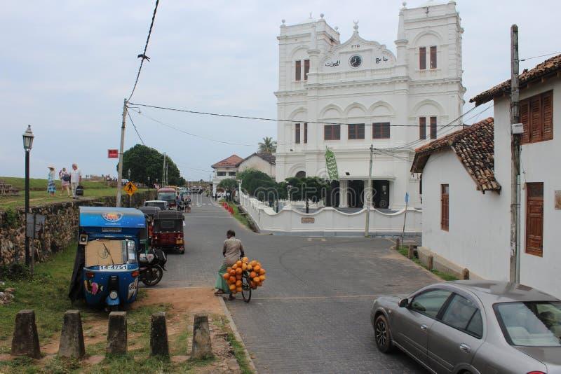 Κόλπος Galle νοτιοδυτική ακτή Sri LankaSINHALA Αναθεώρηση πελατών στοκ εικόνες