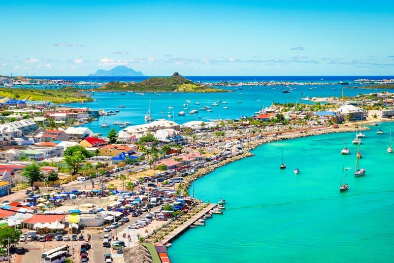 Κόλπος Marigot, ST Martin, καραϊβικός στοκ φωτογραφίες