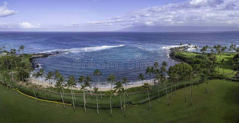 Κόλπος Maui Χαβάη Kapalua στοκ φωτογραφία με δικαίωμα ελεύθερης χρήσης