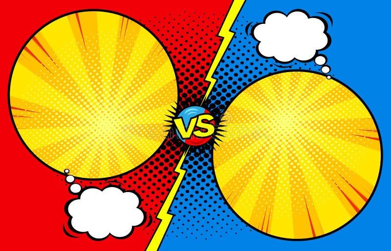 Κόμικς εναντίον του υποβάθρου προτύπων, εισαγωγή μάχης, ημίτοή σύσταση τυπωμένων υλών ελεύθερη απεικόνιση δικαιώματος