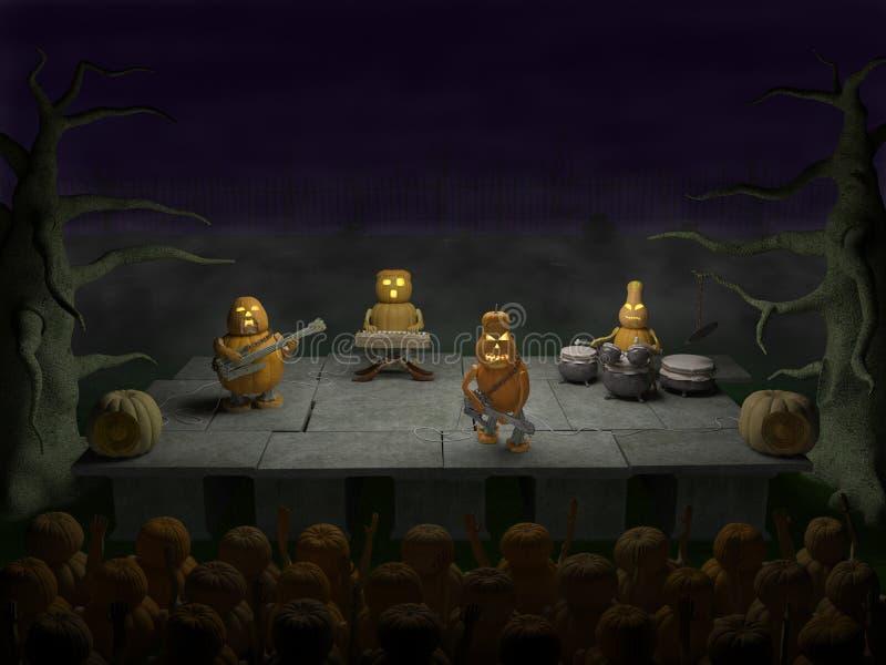 Κόμμα αποκριών (η συναυλία βράχου, παρουσιάζει) απεικόνιση αποθεμάτων