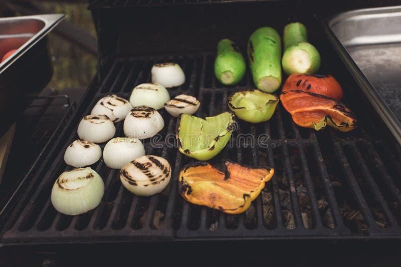 Κόμμα γευμάτων, ψημένα στη σχάρα λαχανικά στοκ φωτογραφία με δικαίωμα ελεύθερης χρήσης