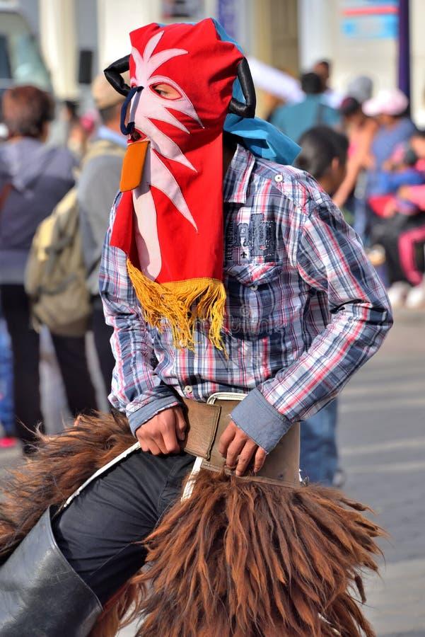 Κόμμα επετείου για την εκπαιδευτική μονάδα σε Otavalo, Ισημερινός στοκ εικόνες με δικαίωμα ελεύθερης χρήσης