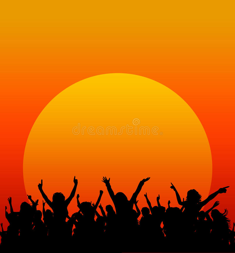 Κόμμα ηλιοβασιλέματος απεικόνιση αποθεμάτων