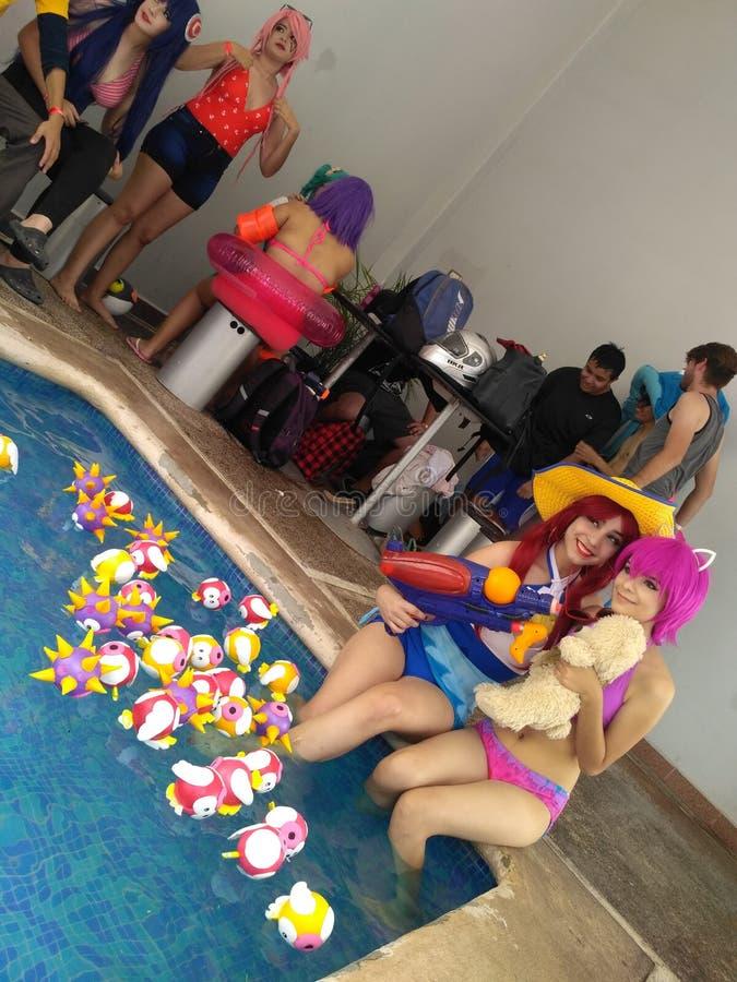 Κόμμα λιμνών Cosplay lol στοκ εικόνα