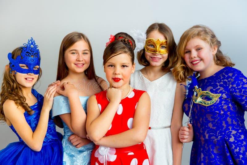 Κόμμα μεταμφιέσεων κοριτσιών στοκ εικόνες με δικαίωμα ελεύθερης χρήσης