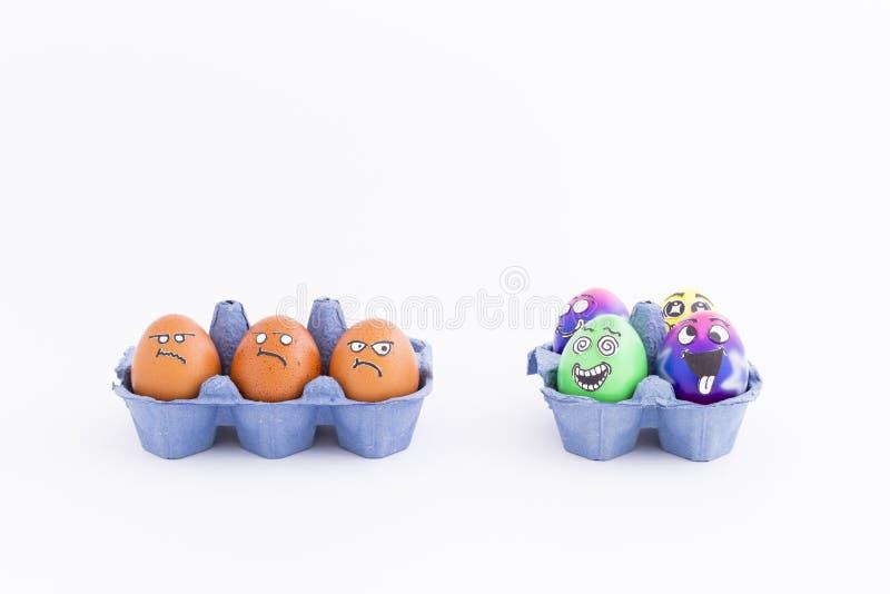 Κόμμα Πάσχας με τα τρελλά αυγά στοκ φωτογραφία με δικαίωμα ελεύθερης χρήσης
