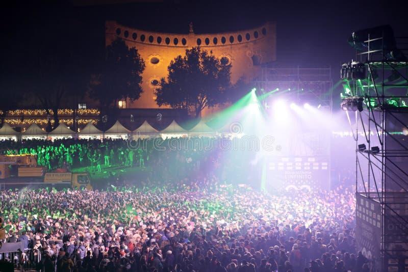 Κόμμα της Ρώμης ` s για να γιορτάσει το νέο έτος, 2018 στοκ φωτογραφίες με δικαίωμα ελεύθερης χρήσης