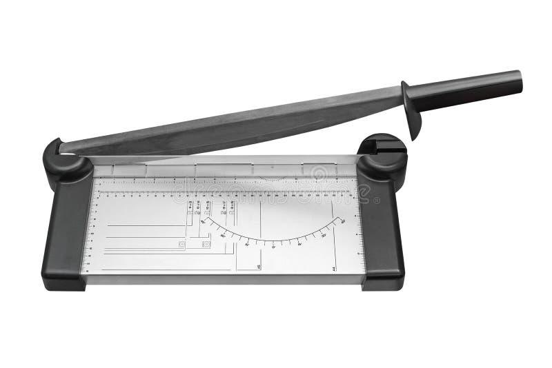 Κόπτης εγγράφου που απομονώνεται στο άσπρο υπόβαθρο στοκ εικόνα