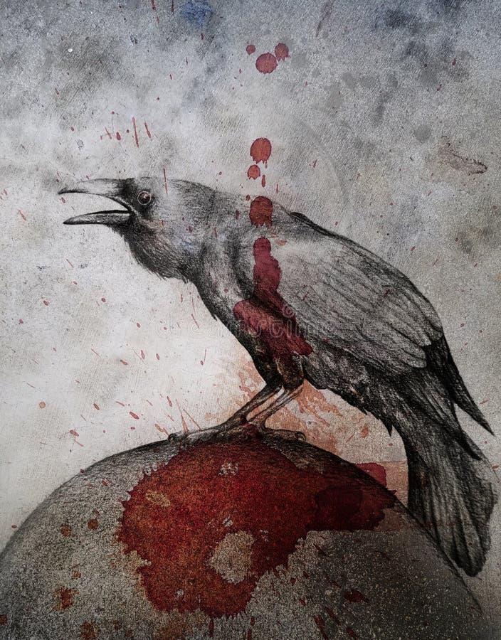 Κόρακας Grunge απεικόνιση αποθεμάτων