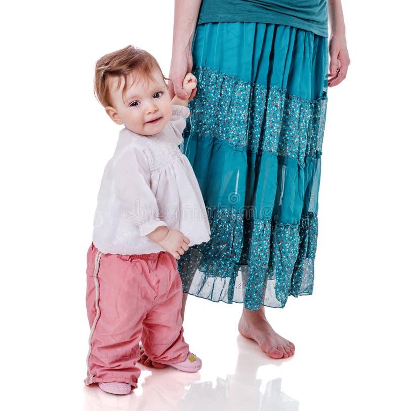 Κόρη εκμετάλλευσης μητέρων στοκ εικόνες με δικαίωμα ελεύθερης χρήσης