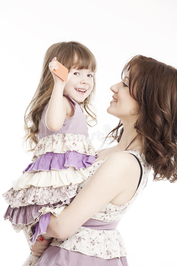 κόρη λίγο πορτρέτο μητέρων στοκ φωτογραφία με δικαίωμα ελεύθερης χρήσης