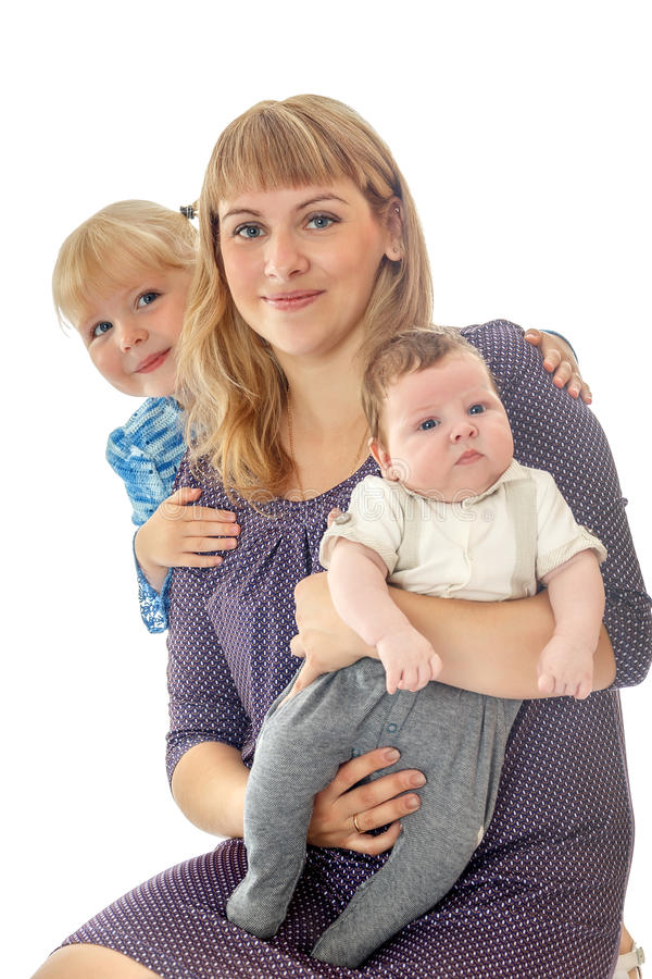 Κόρη μητέρων και λίγος αδελφός στοκ εικόνες με δικαίωμα ελεύθερης χρήσης